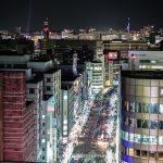 福岡県 博多駅ビル から眺める夜景-JR博多CITY展望テラス