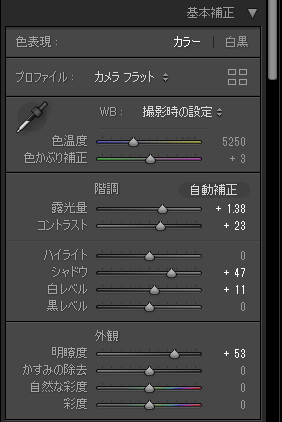 Adobe Lightroom 基本補正