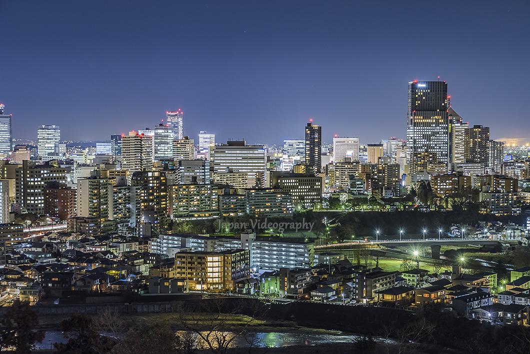 仙台城址から眺める 仙台の夜景