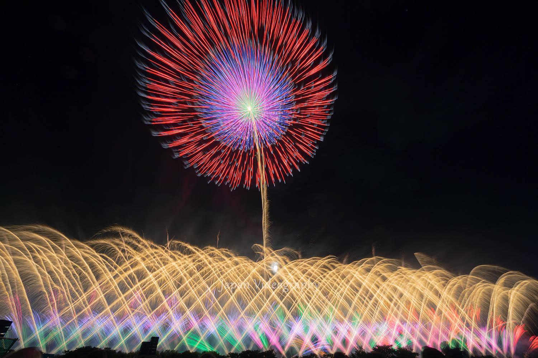 赤川花火大会 希望の光