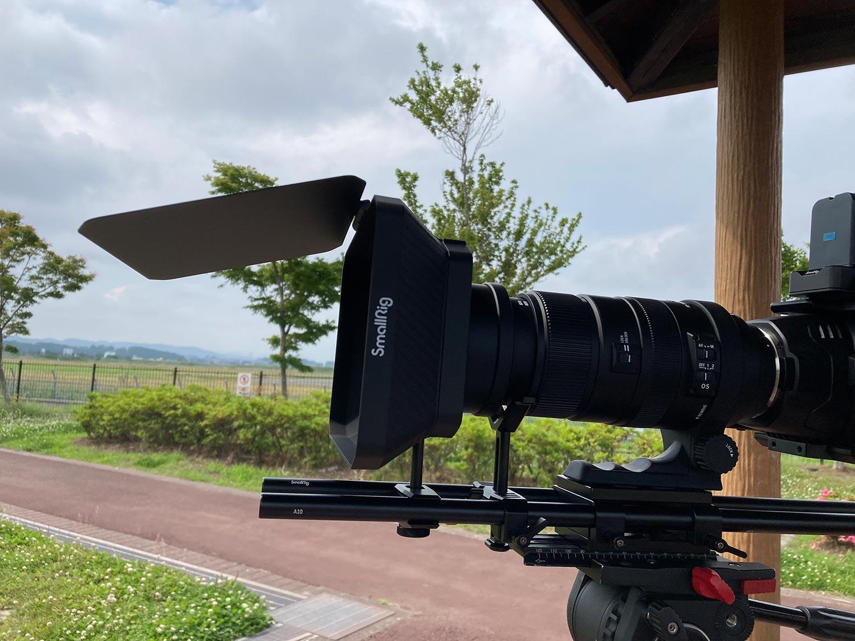SmallRig Matte BoxとSIGMA APO 500mm